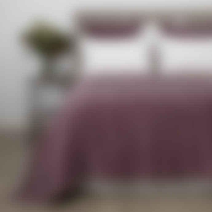 Wallace Cotton Chateau Velvet Bedspread Xlarge Damson