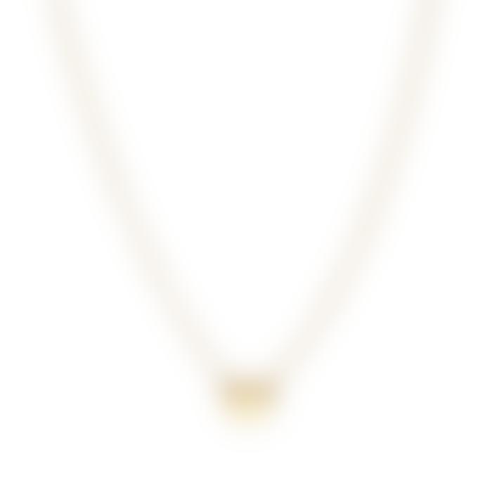 Jane Kønig Reflection Heart Necklace Gold