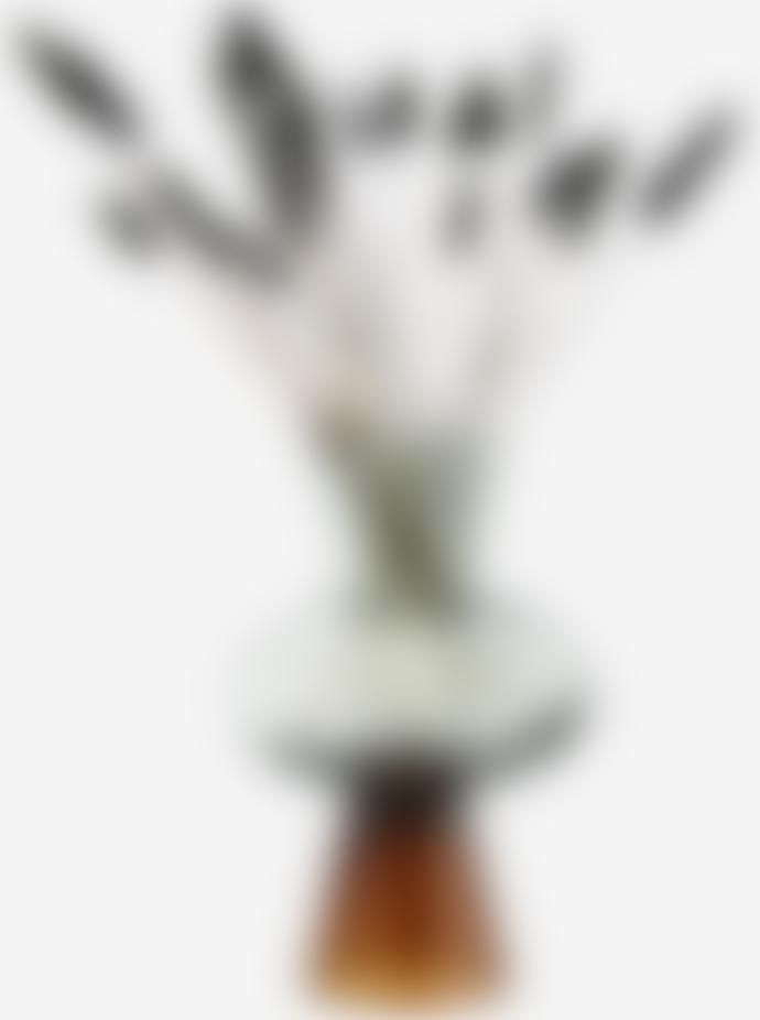 Madam Stoltz Brown Two Tone Glass Vase