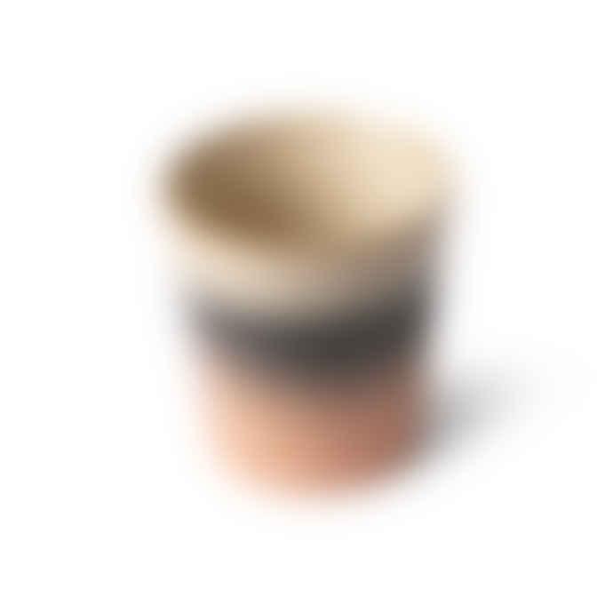 HKliving Ceramic 70's Handleless Mug - Tornado