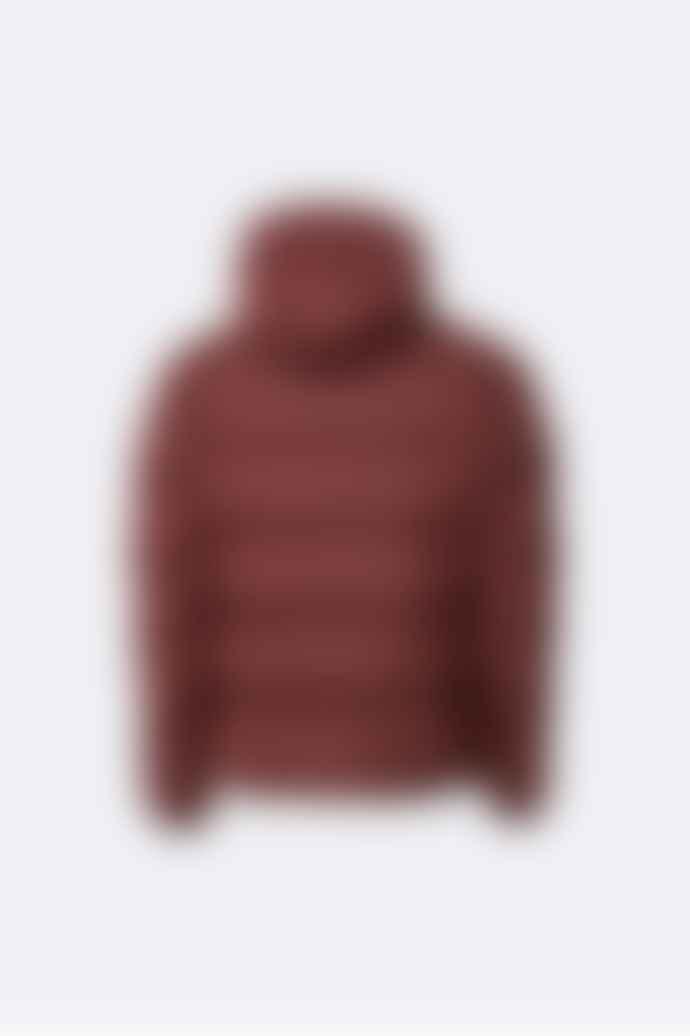 Rains Maroon 1506 Unisex Puffer Jacket