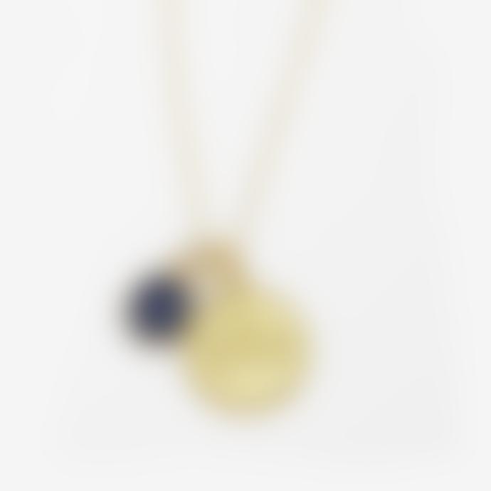 Ottoman Hands Libra Zodiac Necklace With Sapphire Charm