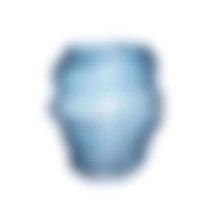 Hubsch Blue Wave Glass Vase