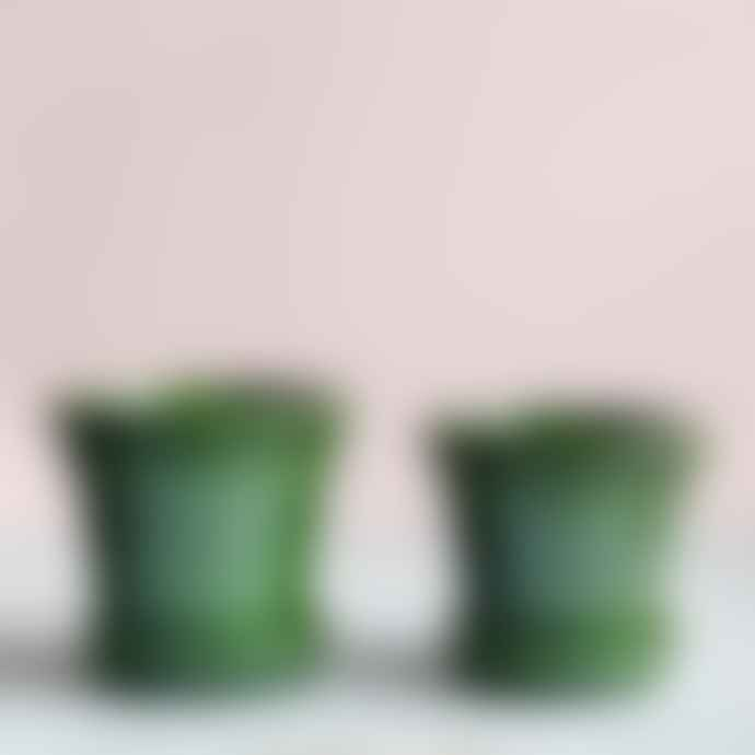 Botanical Boys Copenhagen Glazed Plant Pot And Saucer Emerald 16cm