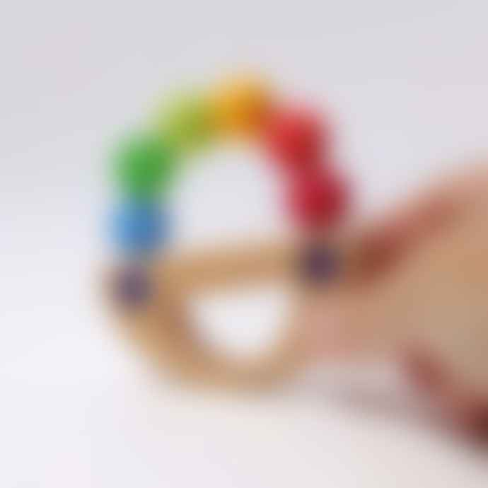 Grimms Rainbow Wooden Rattle