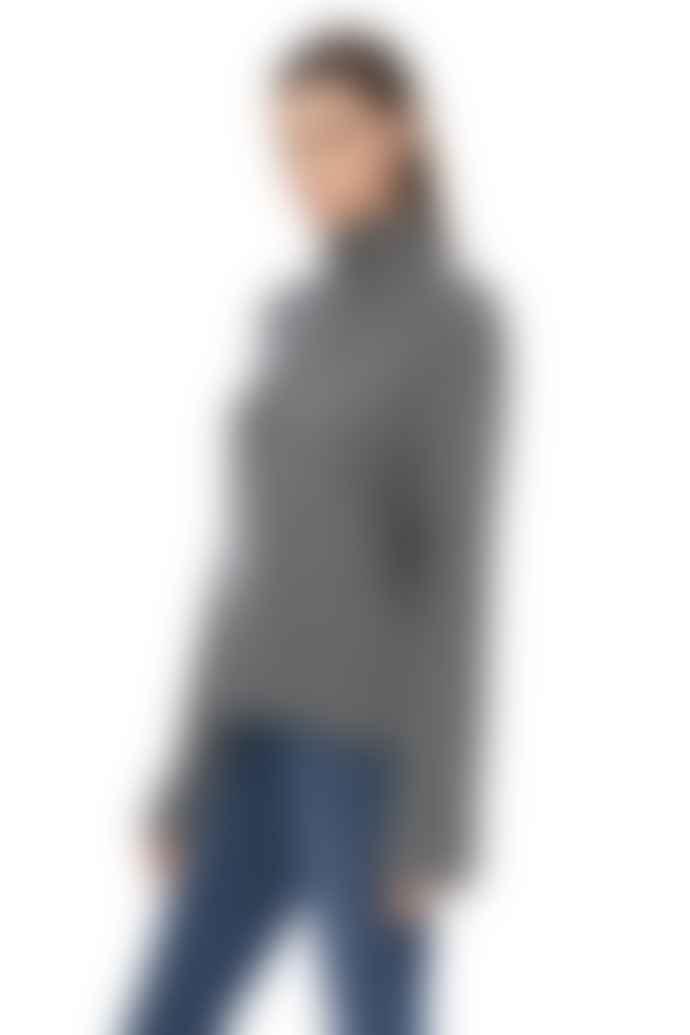 360 Cashmere Leighton Grey Cashmere High Neck Sweater