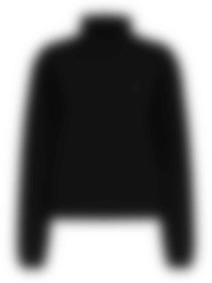 Selected Femme Slfcali Black Knitted Highneck Top