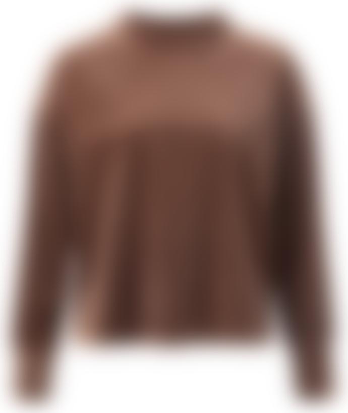 Yaya Rib Velvet Mock Neck Sweatshirt