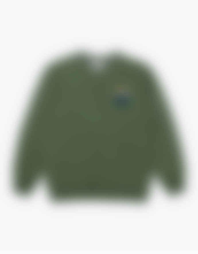 WEMOTO Light Olive Mountain Crew Sweater
