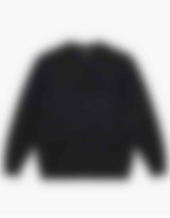 WEMOTO Black Daire Knit Crewneck Pullover