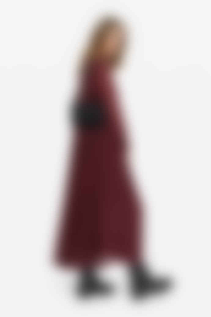 OTTO D´AME Red Oversized Viscose Long Dress