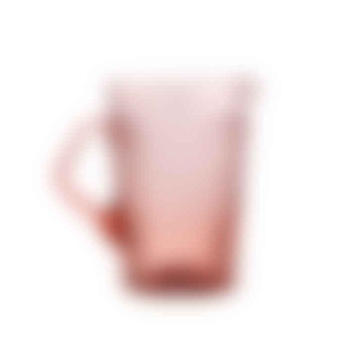 Van Verre Fleur De Lys Pitcher in Powder Pink