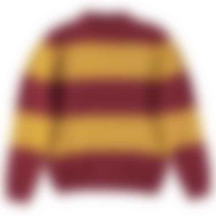 Eat Dust Knit Stripe Kid Mohair R Neck Sweater