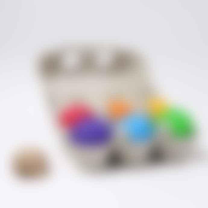 Grimms 6 Pieces Wooden Rainbow Balls