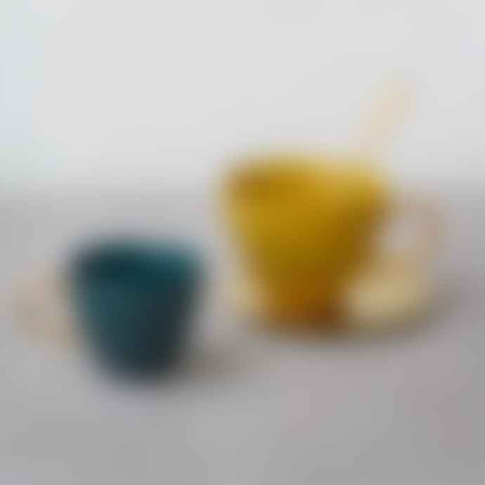 Urban Nature Culture Good Morning Coffee Cup Mini - Blue Green