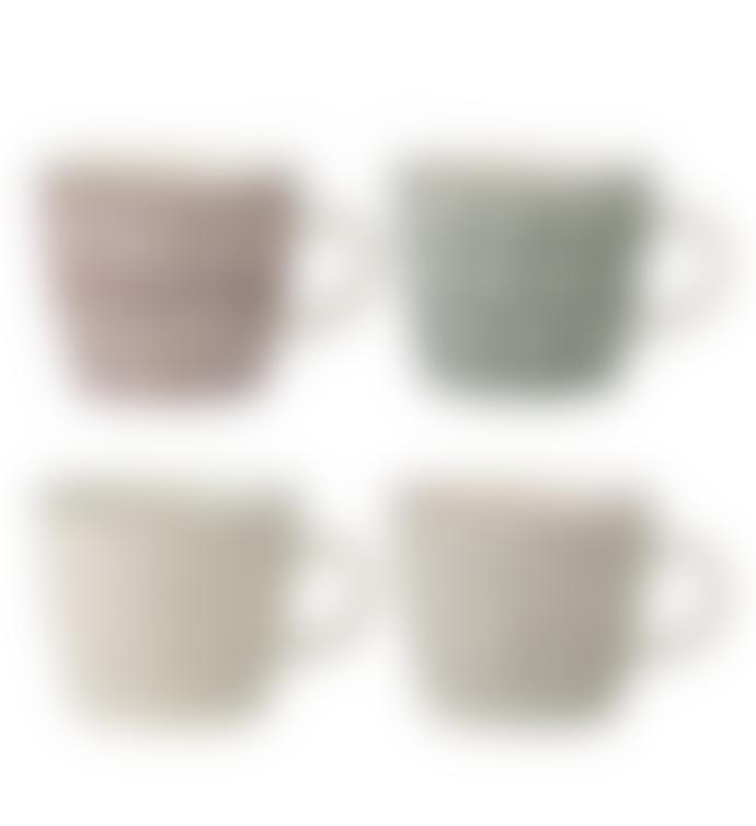 Bloomingville Set of 4 Ceramic Karine Mugs
