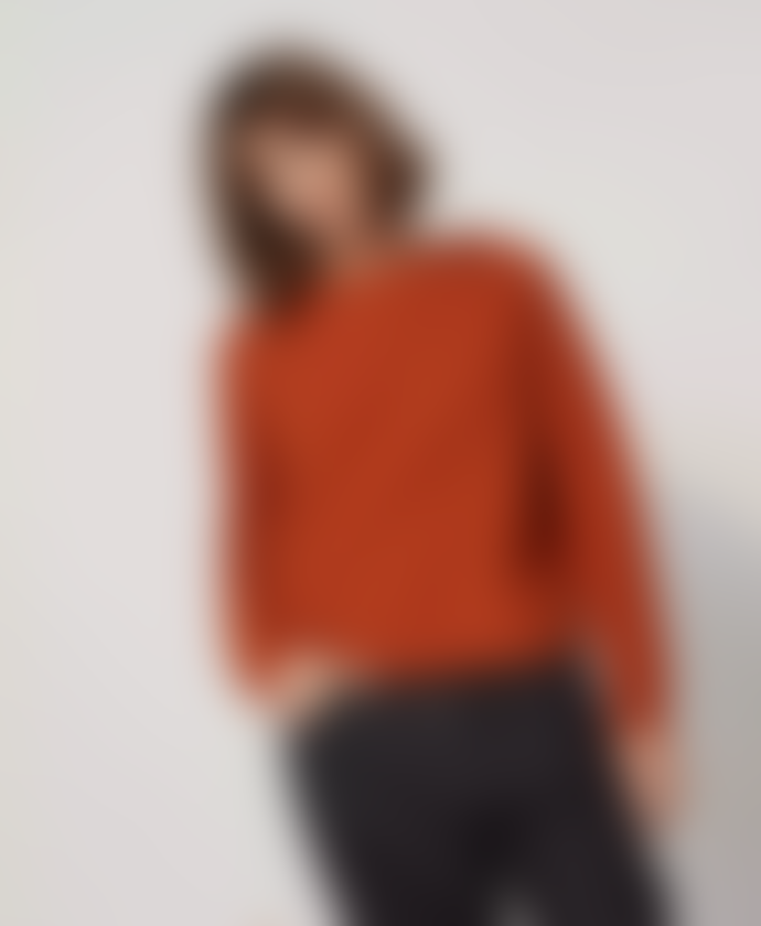 Le Mont St Michel Sherley Zig-Zag Knit Sweater Curry and Off-White