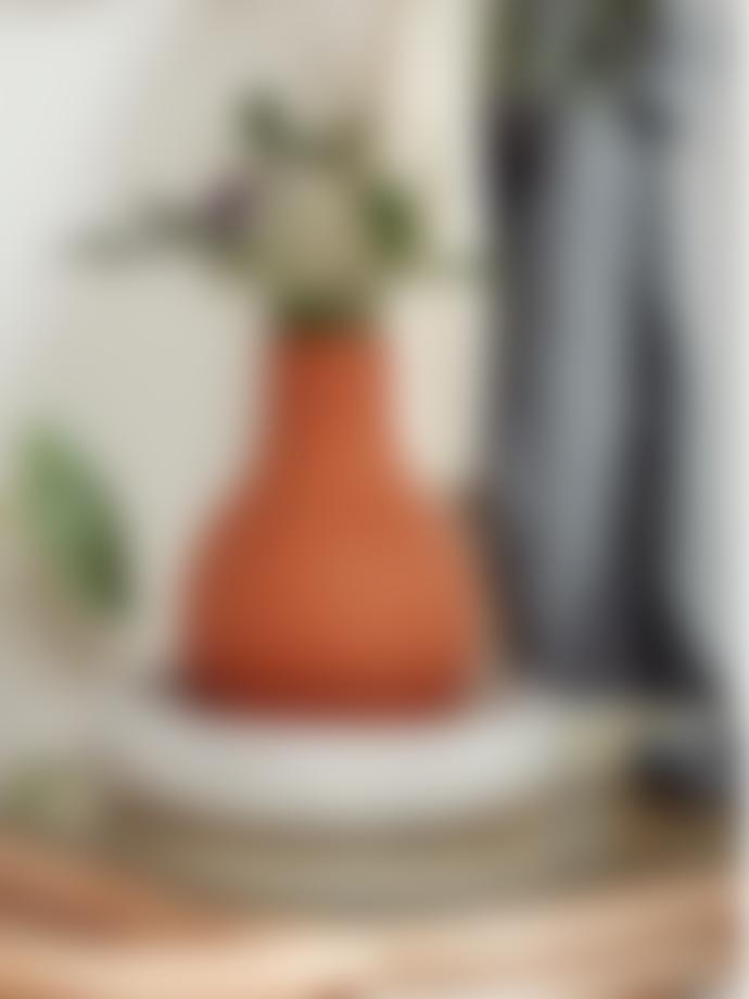 Nordal Denmark Promise Clay Vase W/1 Handle terracota