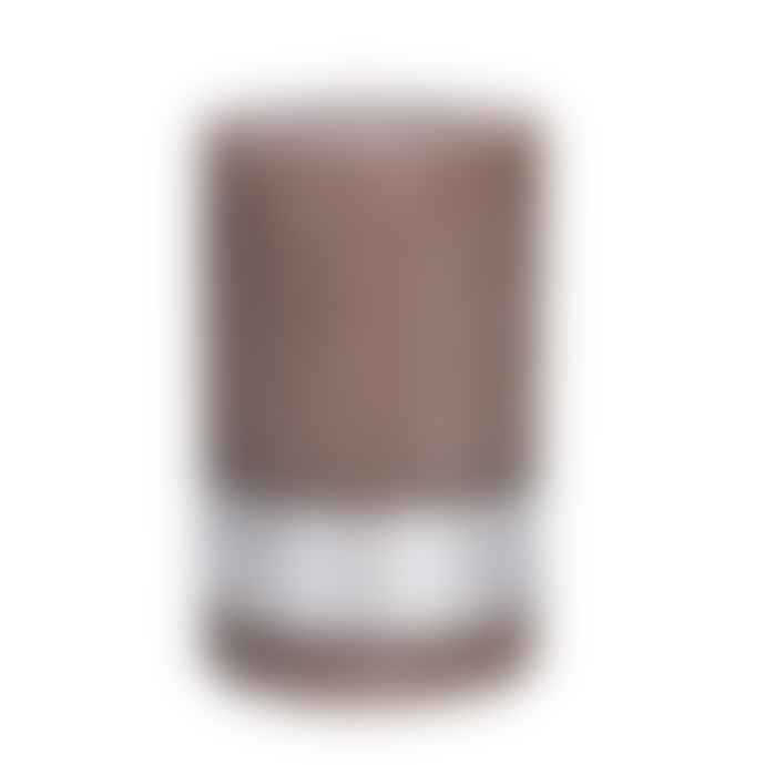 PTMD Rustic Ambient Brown Pillar Candle 8x5cm