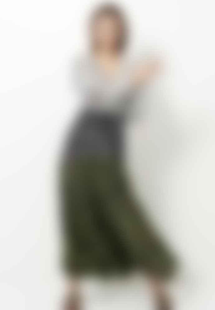 Hayley Menzies Wings Mix Silk Midaxi Dress