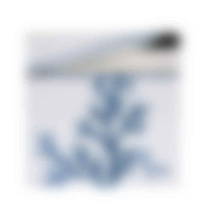 Cote Table White Estran with Blue Plant Porcelain Box