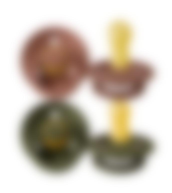Bibs Pack of 2 Woodchuck Hunter Green Pacifiers Bibs