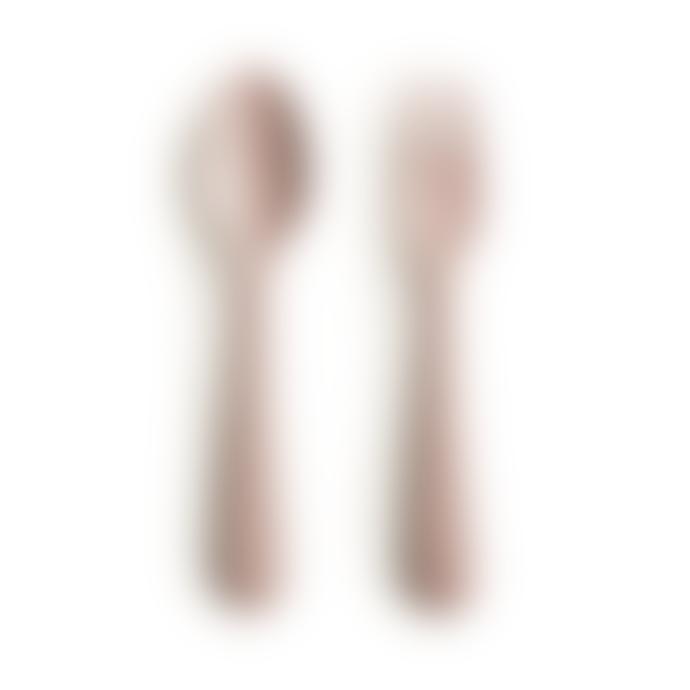 Mushie Fork Spoon Set Blush