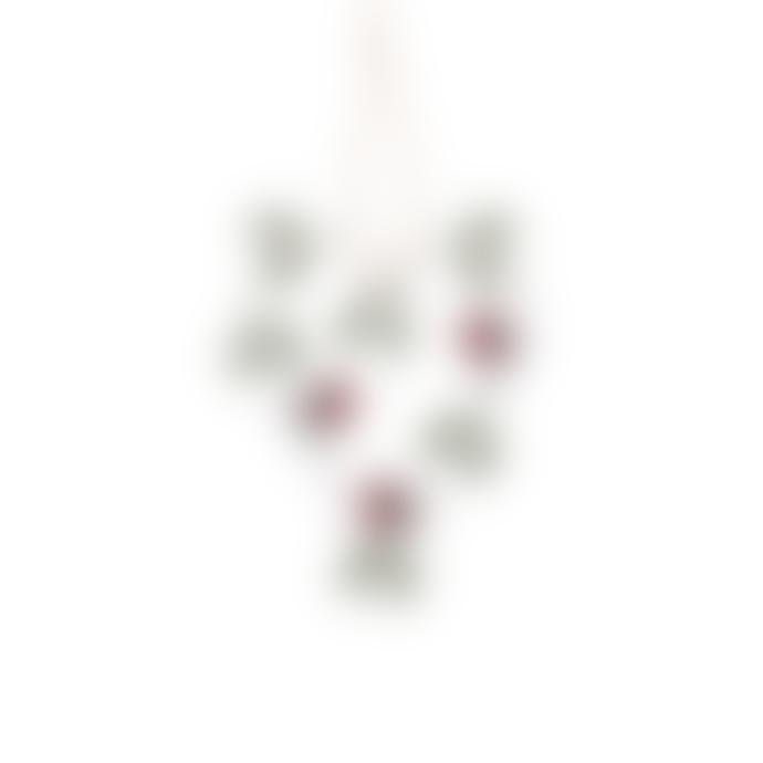 Hyde And Seek Robin Mistletoe Heart Decoration