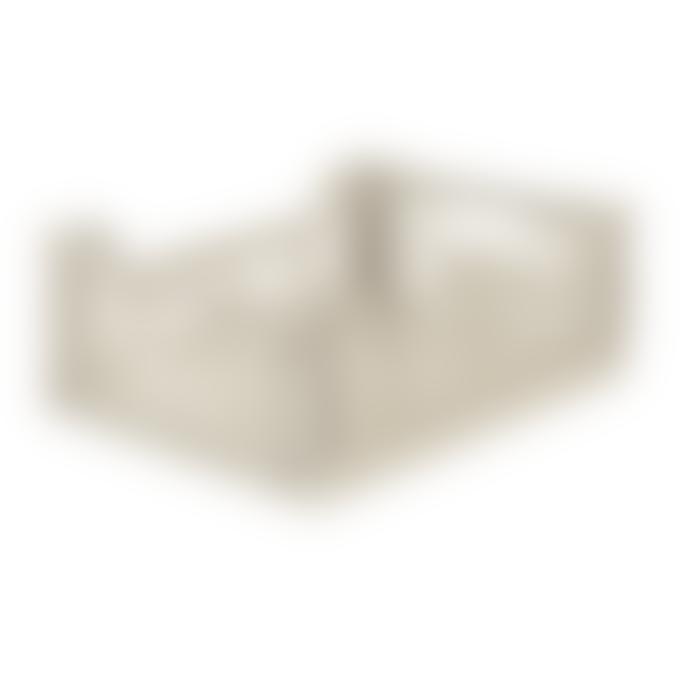 Feather & Nest Midi Folding Storage Crate Coconut Milk