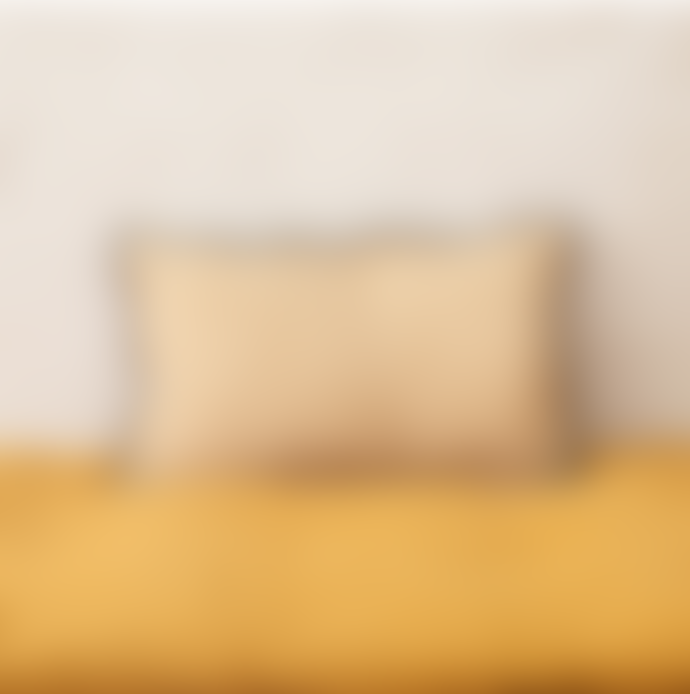 Balakata 30 x 50cm Mustard Linen Bombay Printed Cushion Cover