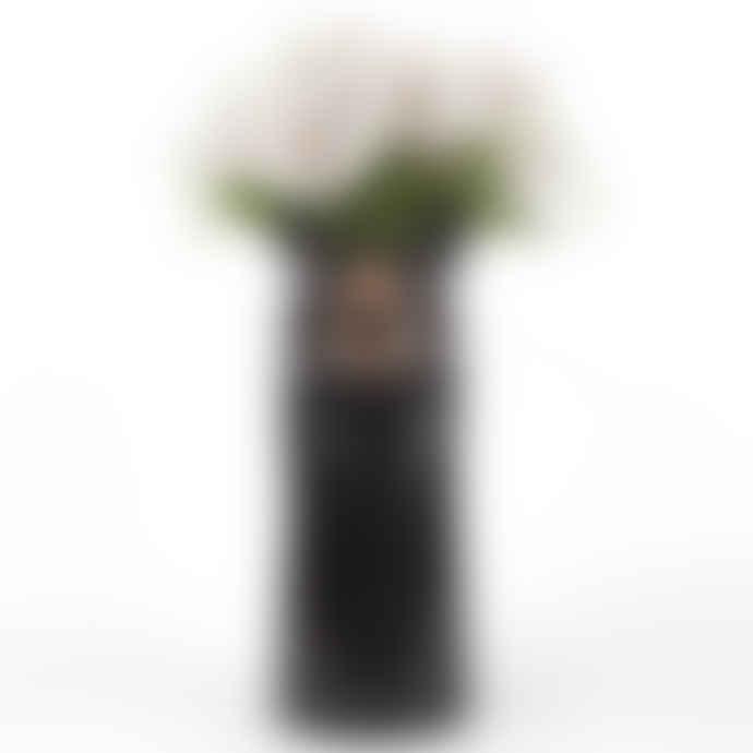 Quail Ceramics Black Bear Vase