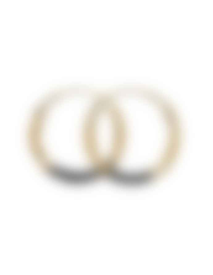 Une A Une Black and Gold Esme Hoops