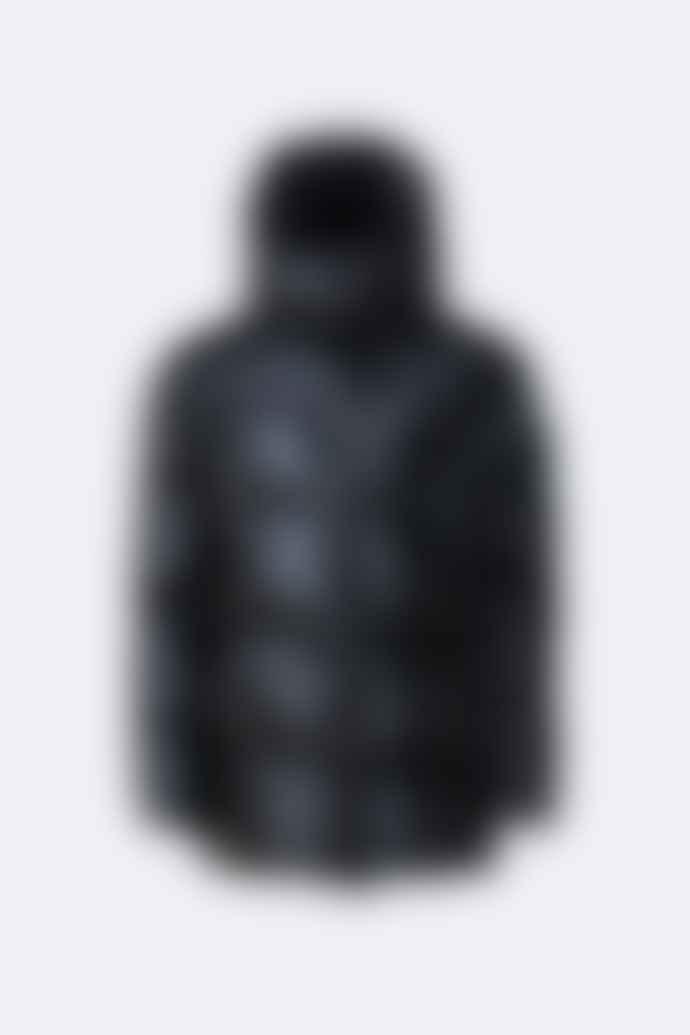 Rains Puffer Hooded Coat Shiny Black