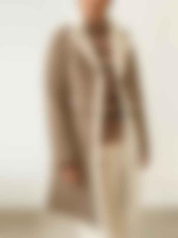 Oakwood Rivality Suede Fur Coat Mastic