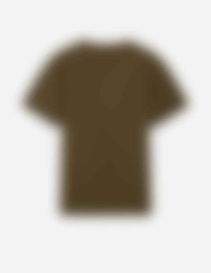 Maison Kitsune Fox Head T Shirt Khaki