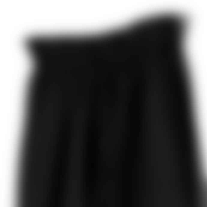 Partimento Washing Cotton Wide String Pants in Black