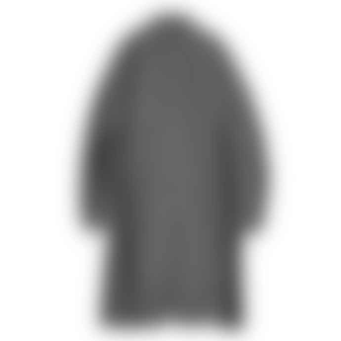 Partimento Single Gathering Coat in Charcoal