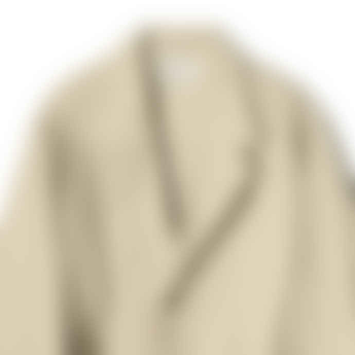 Partimento Belted Single Coat in Beige