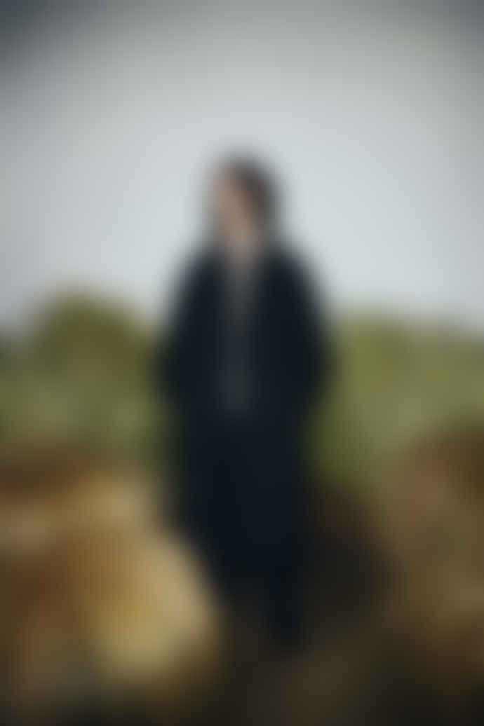 Partimento Belted Single Coat in Black