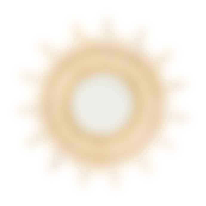 Posh Totty Designs Large  Sunburst Rattan Mirror