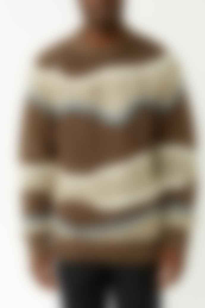 Samsoe Samsoe Brown Stripe Joseph Knit