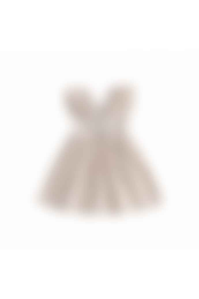 Louise Misha Cream Petals Ambika Dress