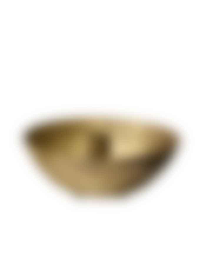 Wikholm Form Riddhi Candleholder In Antique Brass
