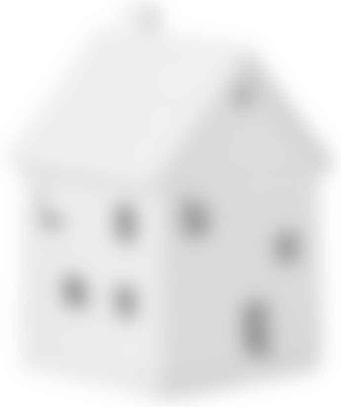 Rader White Porcelain Half-Timbered Light House - Small