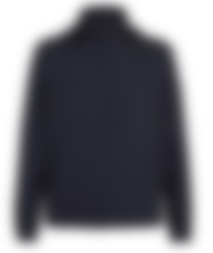 Z Zegna Navy Technical Fabric Hooded Jacket
