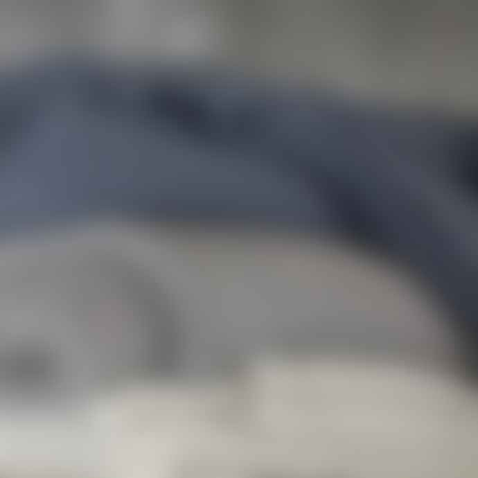 Nkuku Moss Stitch Cotton Throw Charcoal Grey
