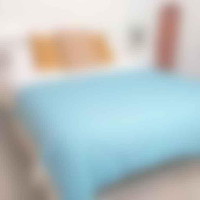 Atlantic Blankets Turquoise Herringbone Wool Blanket