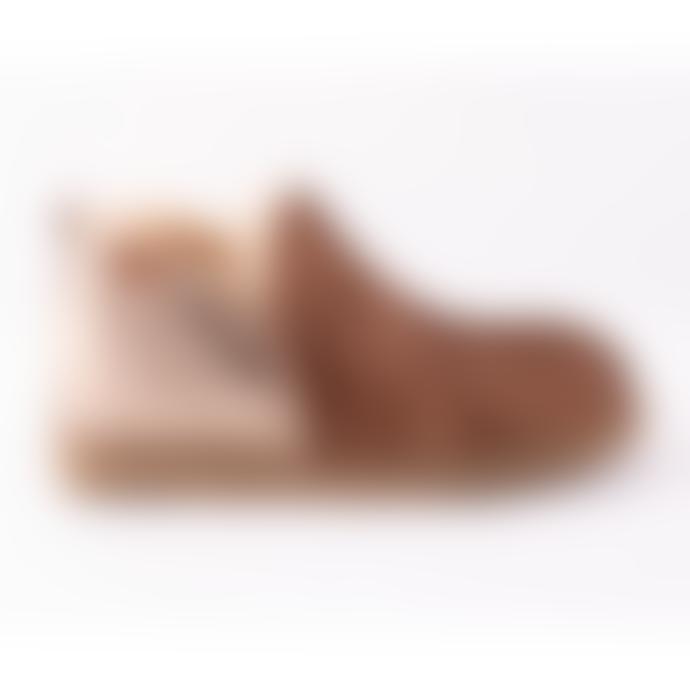 Shepherd of Sweden Antique Cognac & Gold Annie Slipper Boot
