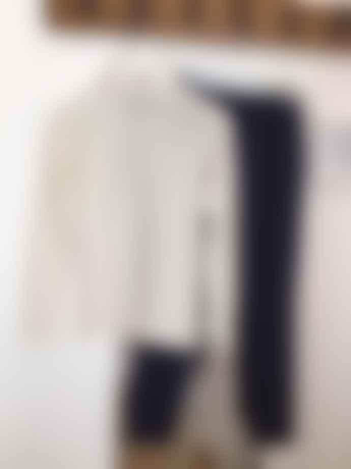 Transit 18531 Funnel Neck Fine Wool Sweater Ivory