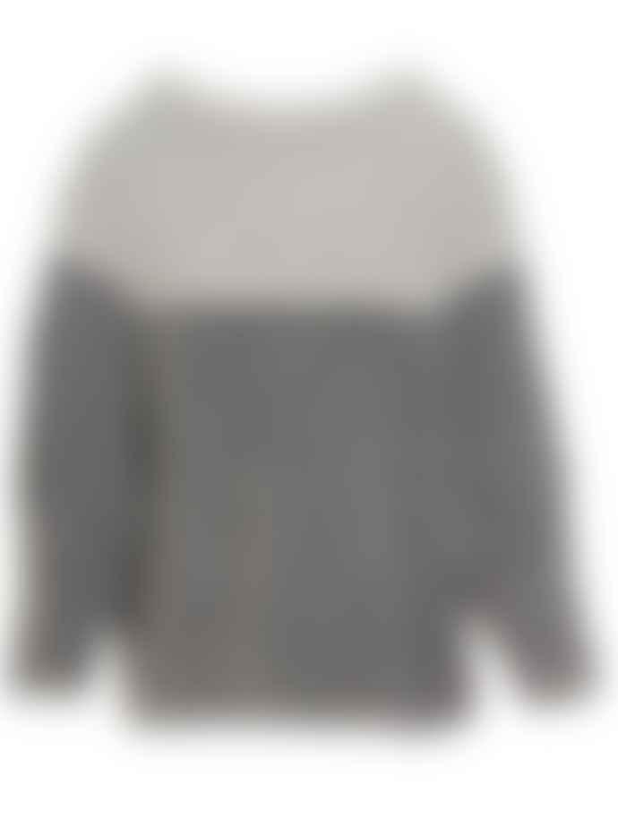 Transit 22572 Chunky Sweater Grey Tones